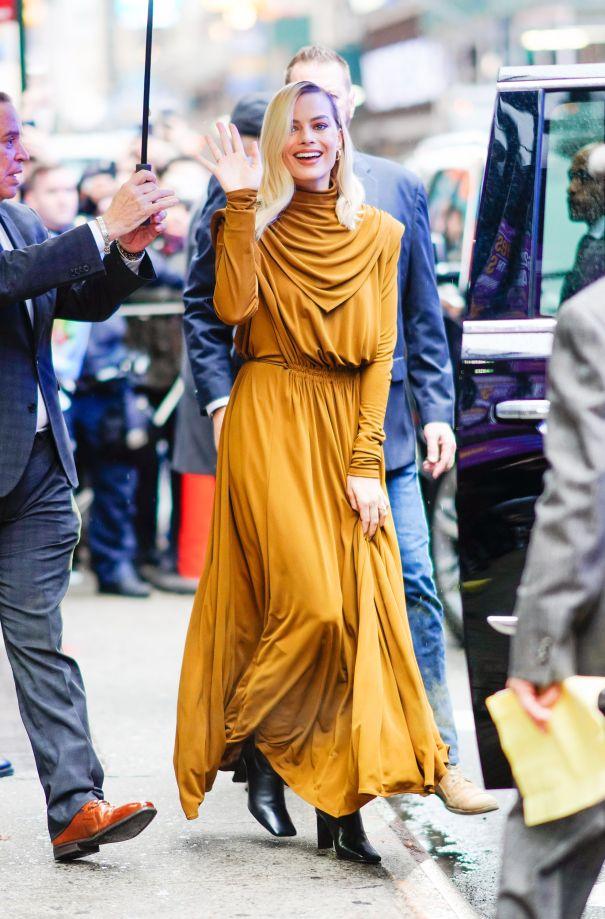 Margot Goes Golden In NYC