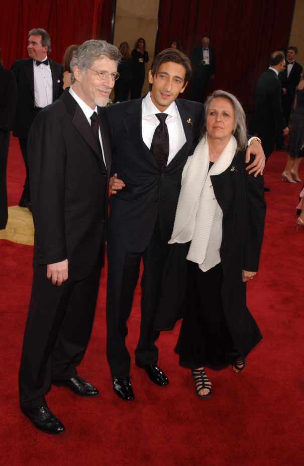 Elliot And Adrien Brody With Sylvia Plachy