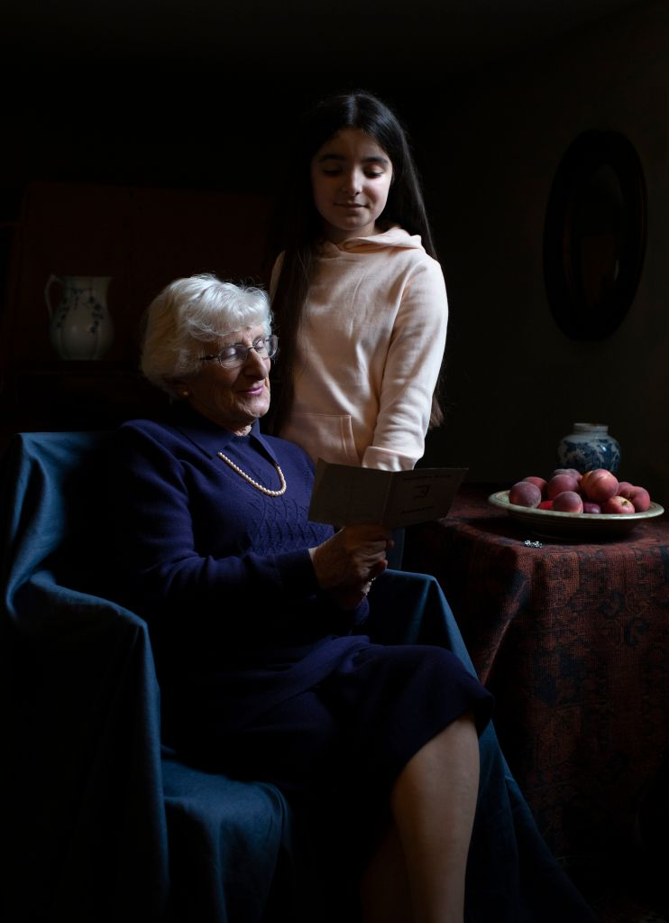 Yvonne Bernstein with her granddaughter Chloe Wright (Photo by The Duchess of Cambridge/Royal Photographic Society via Getty Images)