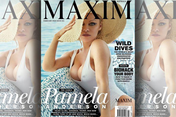 Pamela Anderson. Photo: Carmelo Redondo for Maxim Australia