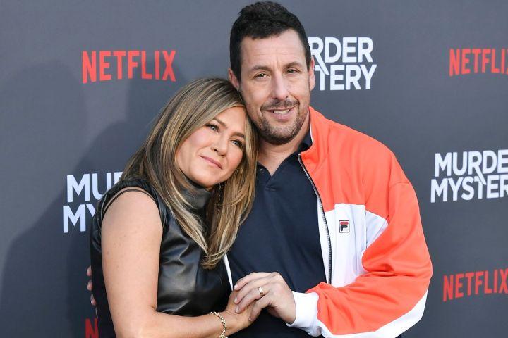 Jennifer Aniston and Adam Sandler. Photo: Rob Latour/Shutterstock