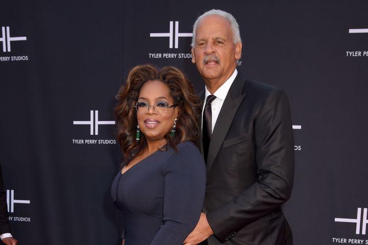 Mandatory Credit: Photo by AFFI/Shutterstock (10437212dn) Oprah Winfrey and Stedman Graham Tyler Perry Studios Grand Opening, Arrivals, Atlanta, USA - 05 Oct 2019