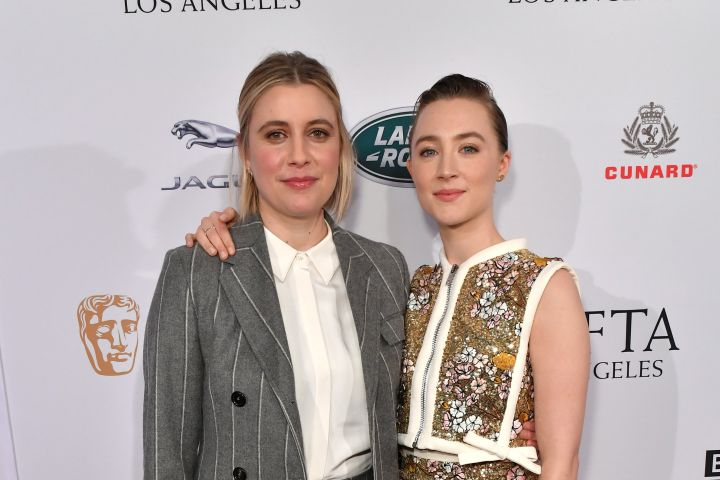 """""""Little Women"""" director Greta Gerwig and star Saoirse Ronan hit the red carpet at the BAFTA Tea Party."""
