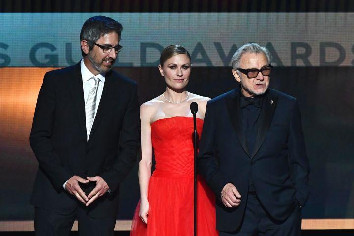 Ray Romano, Anna Paquin and Harvey Keitel. Photo: Michael Buckner/Variety/Shutterstock