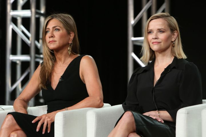 Jennifer Aniston and Reese Witherspoon. Photo: David Buchan/Variety/Shutterstock