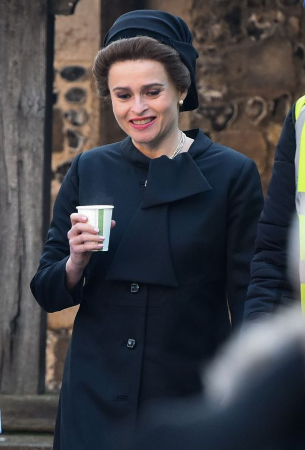 Helena Bonham Carter On Location For 'The Crown'