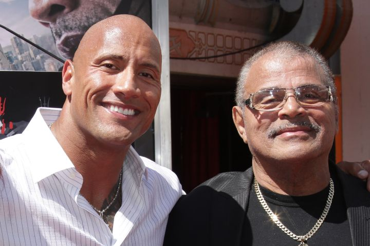 Dwayne Johnson  and Rocky Johnson -  Jim Smeal/BEI/Shutterstock