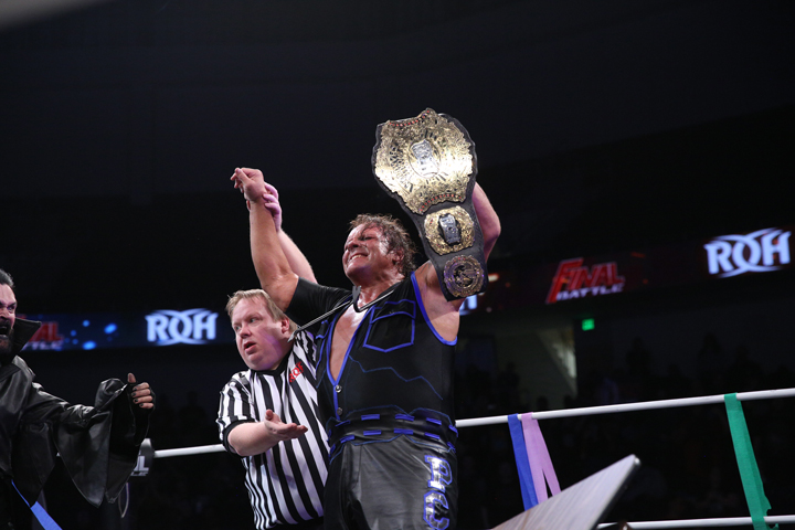 PCO wins the RoH World Championship at Final Battle. Photo:  Courtesy of Ring Of Honor/ Zia Hiltey