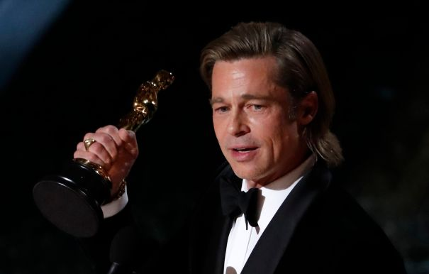 Brad Pitt Wins And Thanks Leo