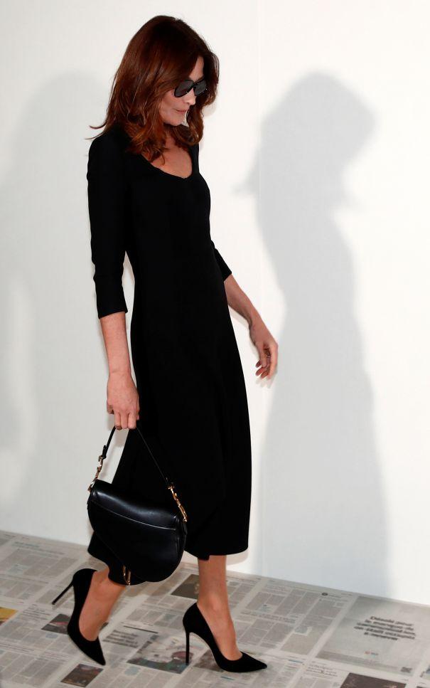 Carla Bruni-Sarkozy At Dior