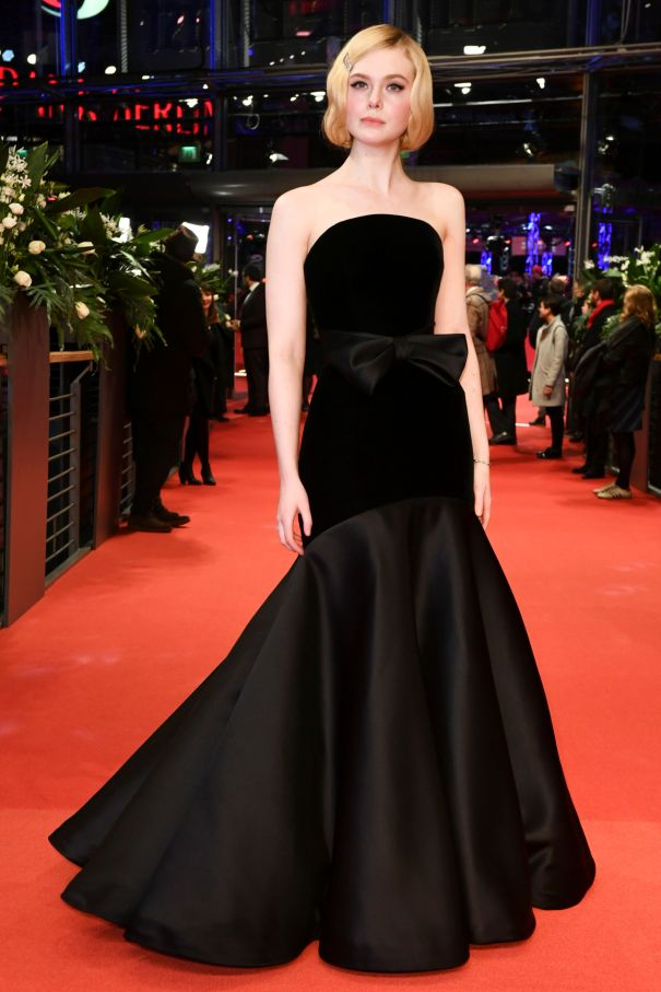 Elle Fanning Elegant In Black
