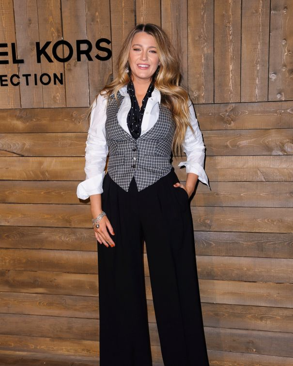 Blake Lively Suits Up