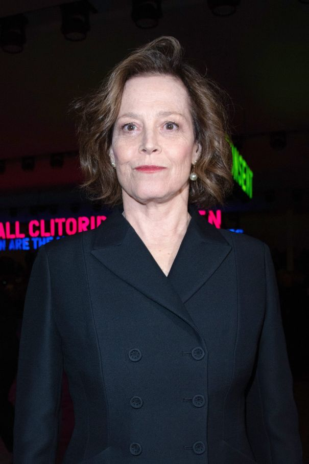 Sigourney Weaver Is Bold In Black
