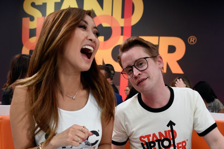 Brenda Song and Macaulay Culkin. Photo: Kevin Mazur/Getty Images for Stand Up To Cancer
