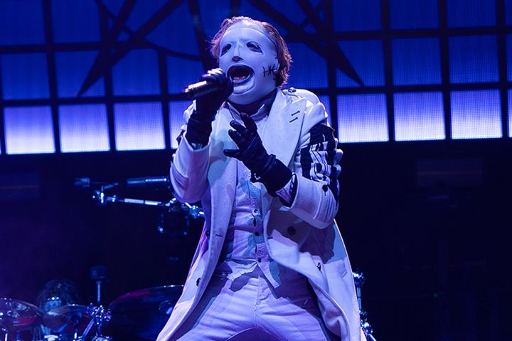 Corey Taylor of Slipknot performs at The 3 Arena on Jan. 14, 2020 in Dublin, Ireland.