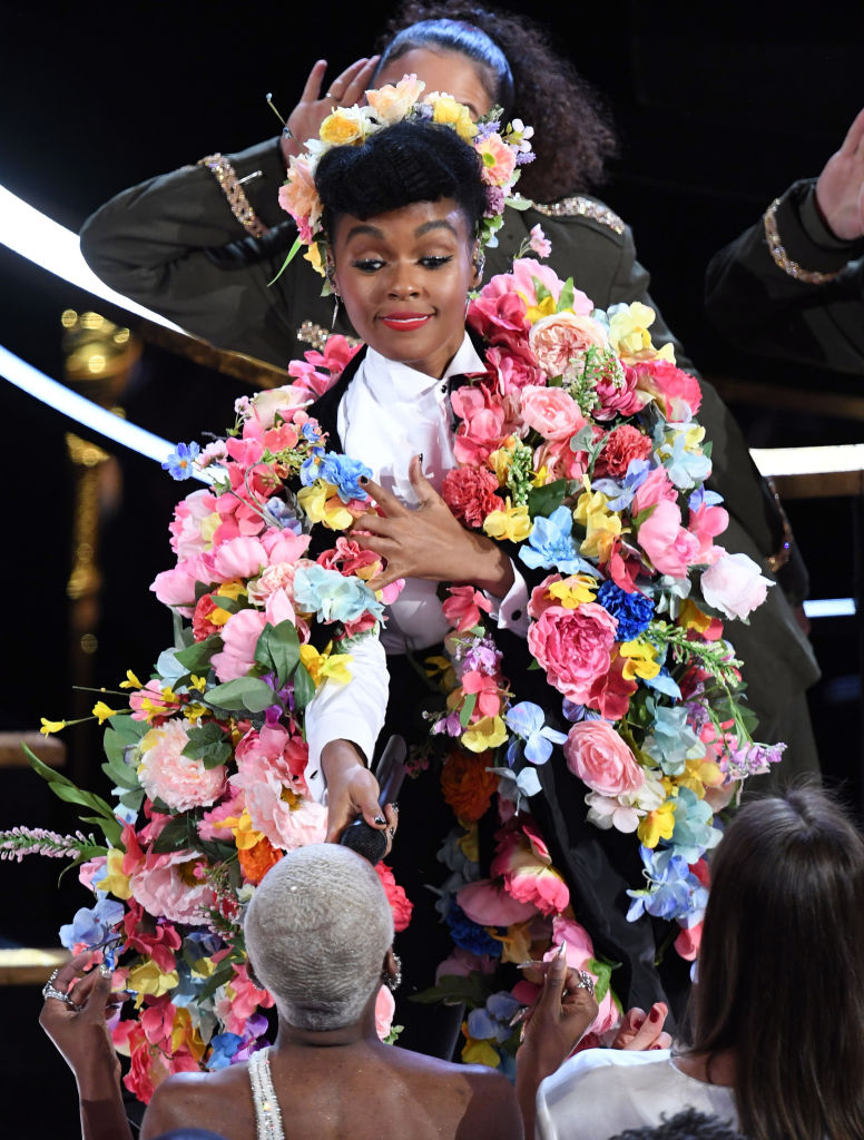 HOLLYWOOD, CALIFORNIA – FEBRUARY 09: Janelle Monáe performs onstage during the 92nd Annual Academy Awards at Dolby Theatre on February 09, 2020 in Hollywood, California. (Photo by Kevin Winter/Getty Images)