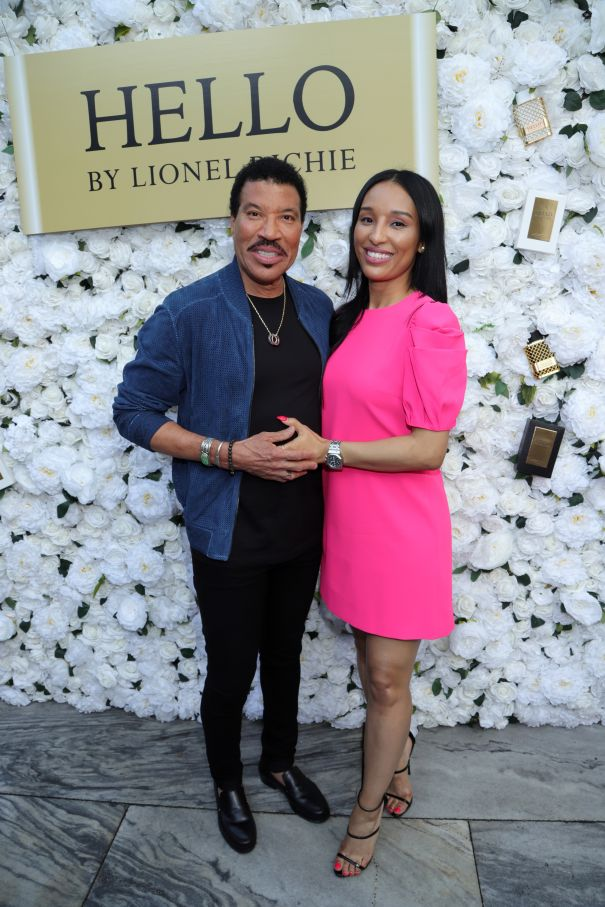 Lionel Richie And Lisa Parigi Say 'Hello'