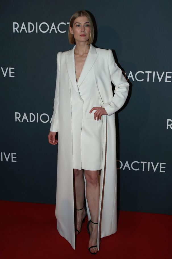 Rosamund Pike Channels Angelic Vibes