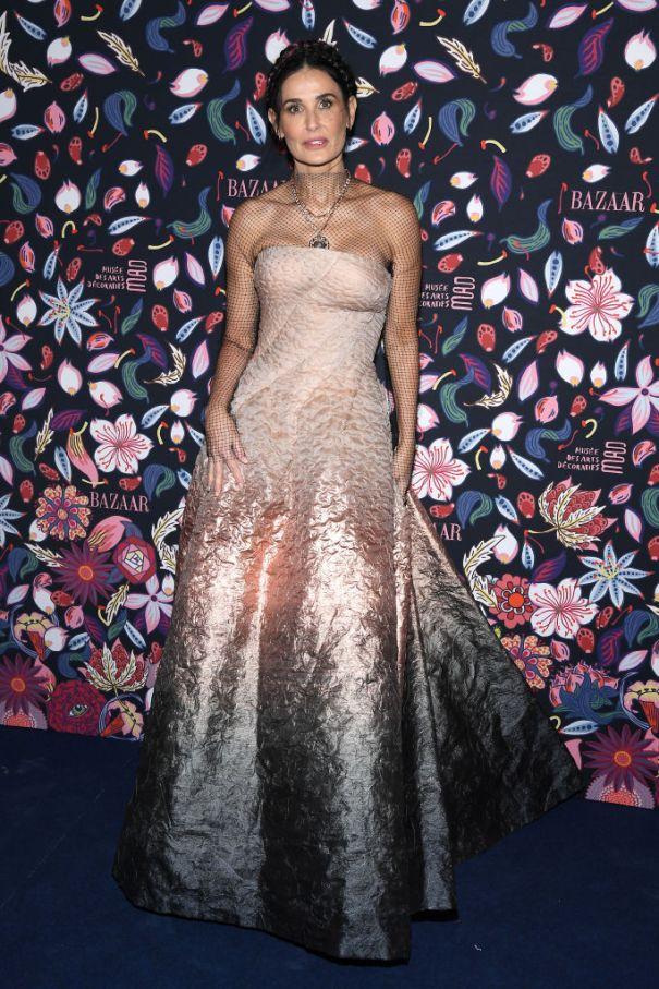 Demi Moore Radiates In Metallic Ballgown