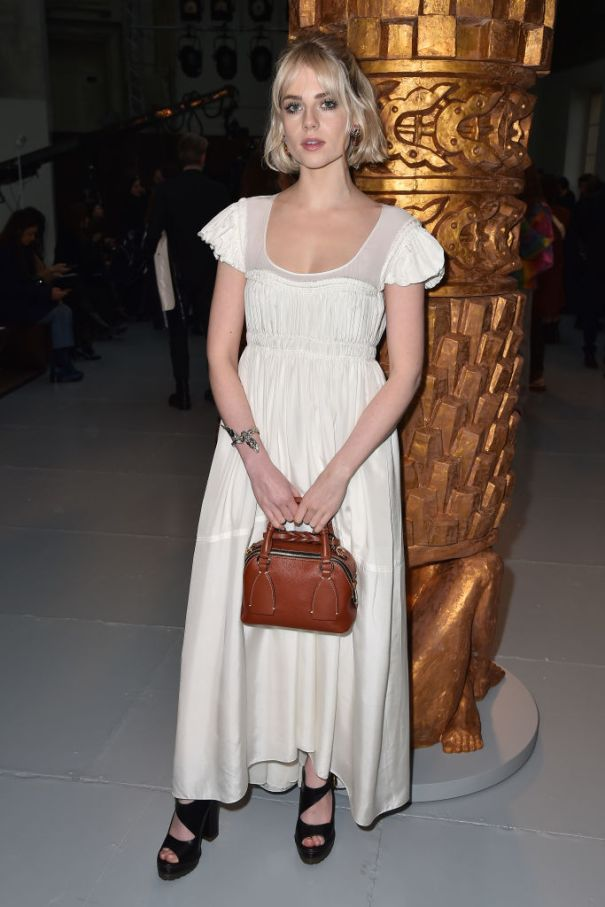 Lucy Dresses Delicate In White