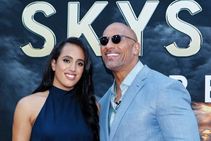 Simone and Dwayne Johnson - Getty Images