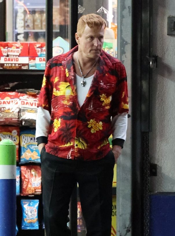 Woody Harrelson Rocks A Vintage Tee On 'Venom 2' Set