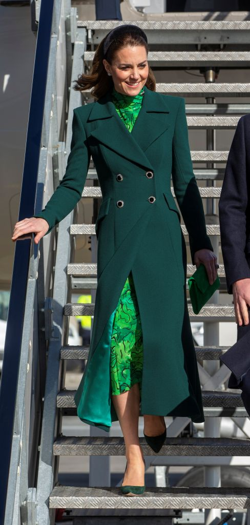 Britain's Catherine, Duchess of Cambridge disembarks from a plane as she arrives in Dublin, Ireland March 03, 2020. Ian Volger/Pool via REUTERS