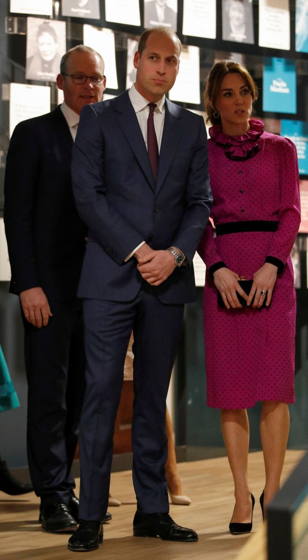 The Royal Couple At Museum Of Literature In Ireland