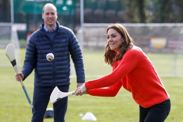 Will and Kate Are Active On The Field