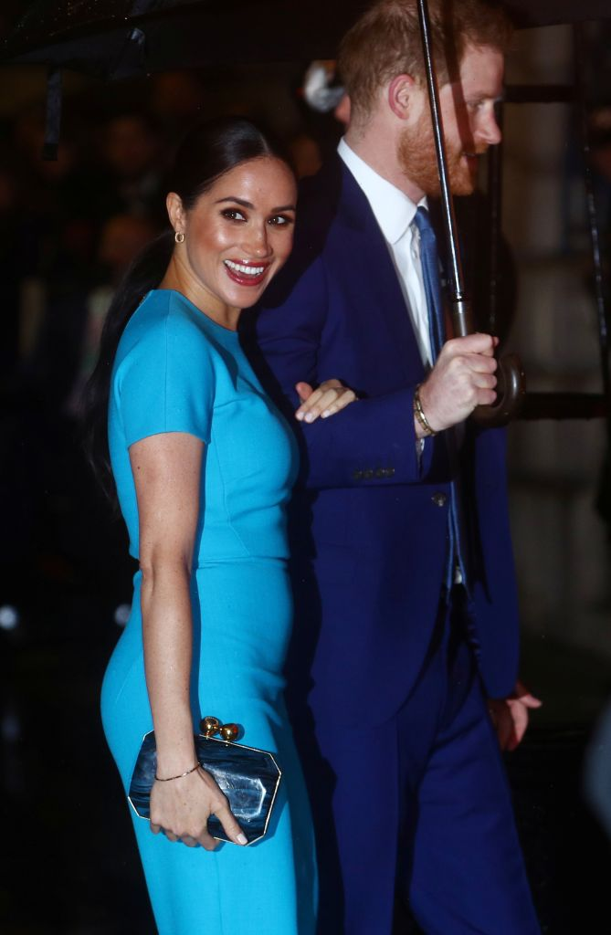 Britain's Prince Harry and his wife Meghan, Duchess of Sussex, arrive at the Endeavour Fund Awards in London, Britain March 5, 2020. REUTERS/Hannah McKay