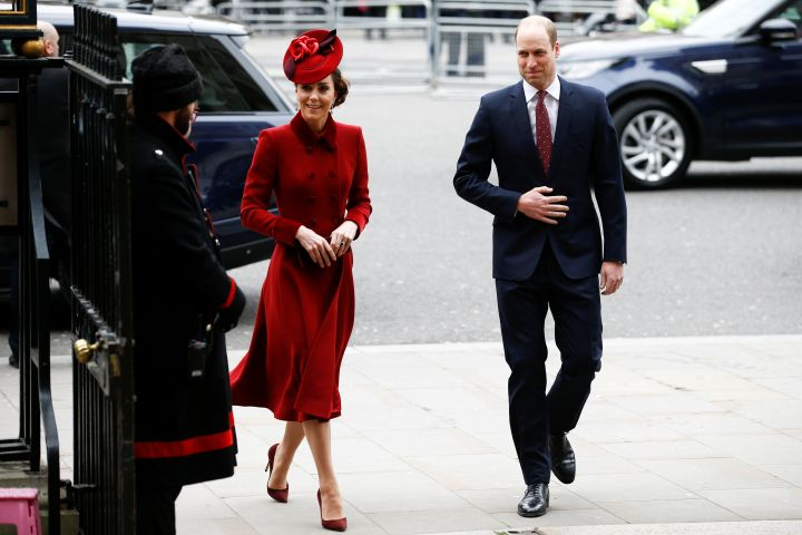 Britain's Prince William and Catherine, Duchess of Cambridge, arrive for the annual Commonwealth Service at Westminster Abbey in London, Britain March 9, 2020. REUTERS/Henry Nicholls