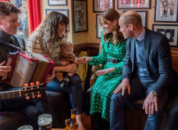 Royals Sit With Locals In Irish Pub