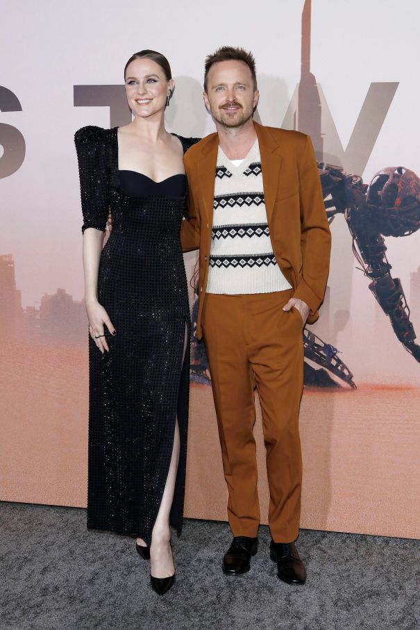 Evan Rachel Wood With Aaron Paul