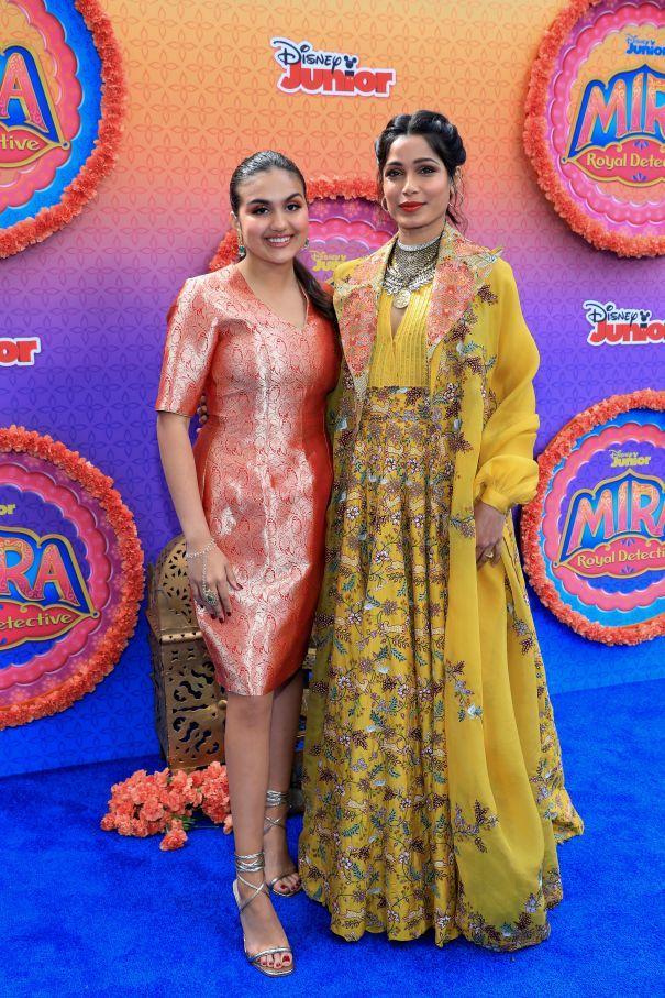 Leela Dadnier And Freida Pinto Premiere 'Mira, Royal Detective'