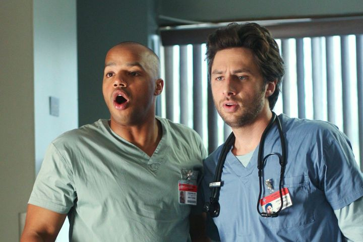 """Donald Faison and Zach Braff in """"Scrubs"""". Photo: ABC / Courtesy Everett Collection/CP Images"""