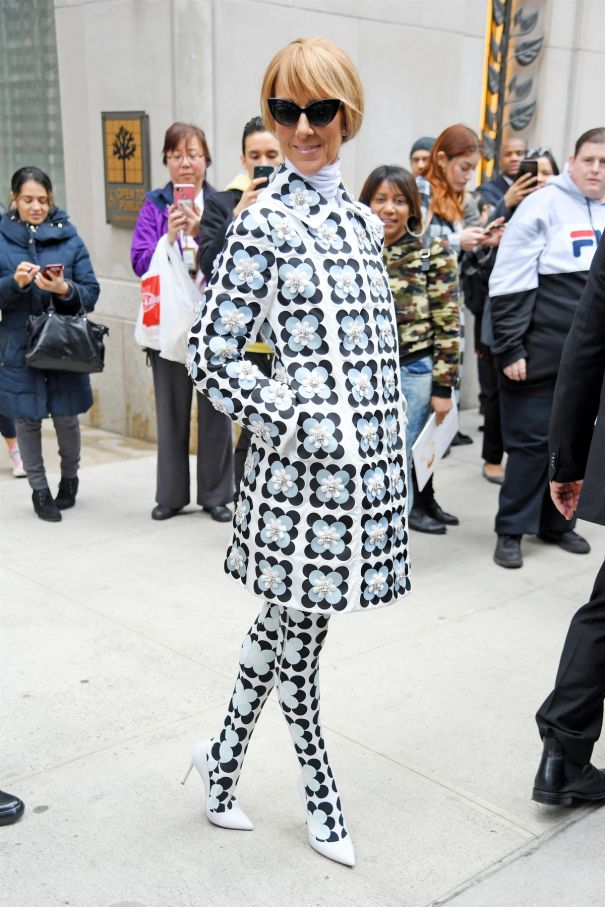Celine Dion Channels The '60s In NYC