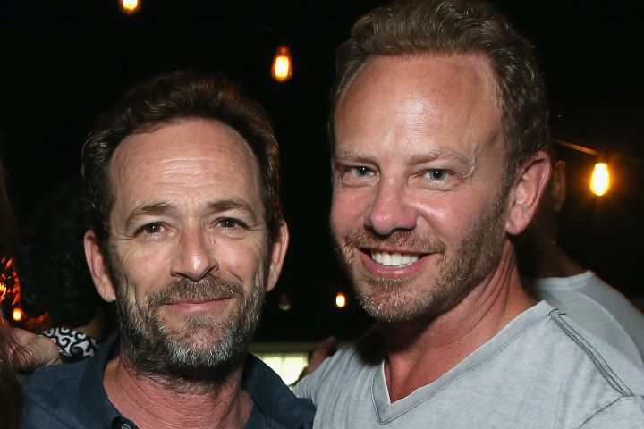 Luke Perry and Ian Ziering. Photo: Phillip Faraone/Getty Images for Entertainment Weekly