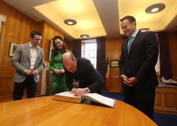 The Royal Couple In The Taoiseach's Office