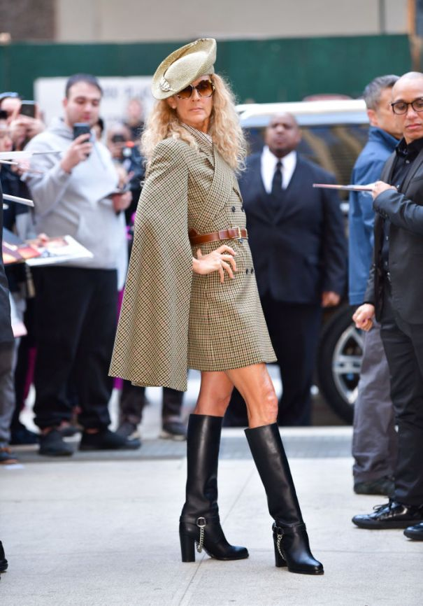 Celine Dion In Top To Toe Michael Kors In NYC