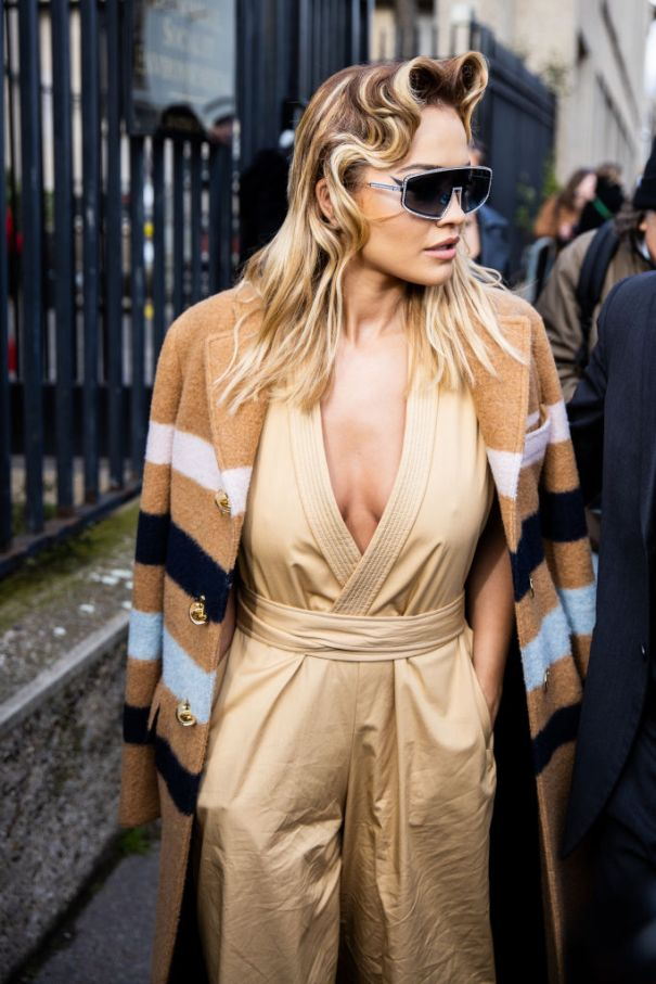 Rita Ora Pretty In A Pantsuit