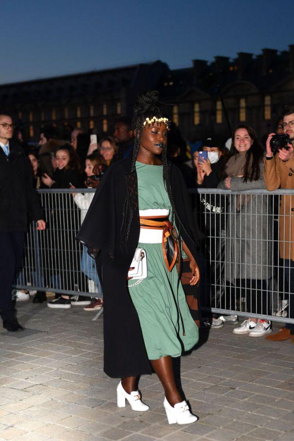 Lupita Nyong'o Arrives At Louis Vuitton Show