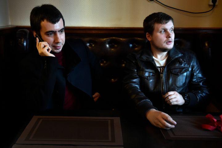 "Russian pranksters (L-R) Vladimir ""Vovan"" Kuznetsov and Alexei ""Lexus"" Stolyarov (Credit: YURI KADOBNOV/AFP via Getty Images)"