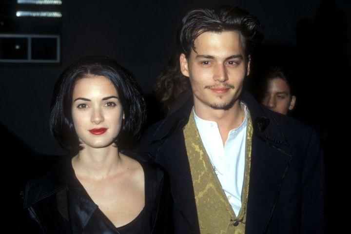 Winona Ryder & Johnny Depp (Photo by Barry King/WireImage)