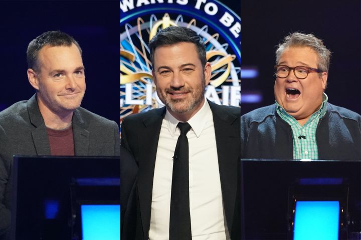 Will Forte, Jimmy Kimmel and Eric Stonestreet. Photo: ABC/Eric McCandless