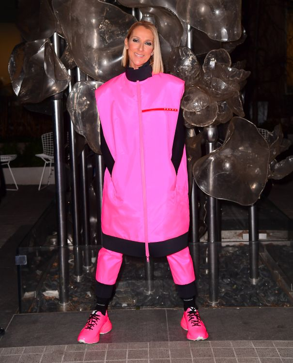 Celine Dion Is Confident In Hot Pink