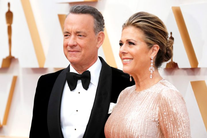 Tom Hanks and Rita Wilson. Photo: EPA/DAVID SWANSON/CP Images