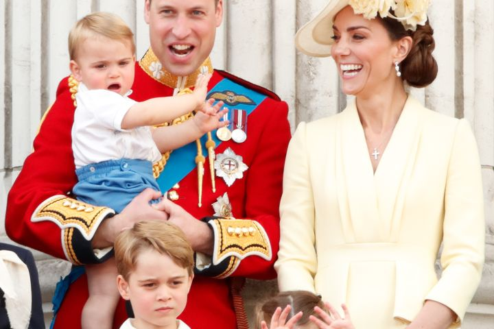 Prince William and Kate Middleton, Prince Louis, Prince George and Princess Charlotte. Photo: Getty Images