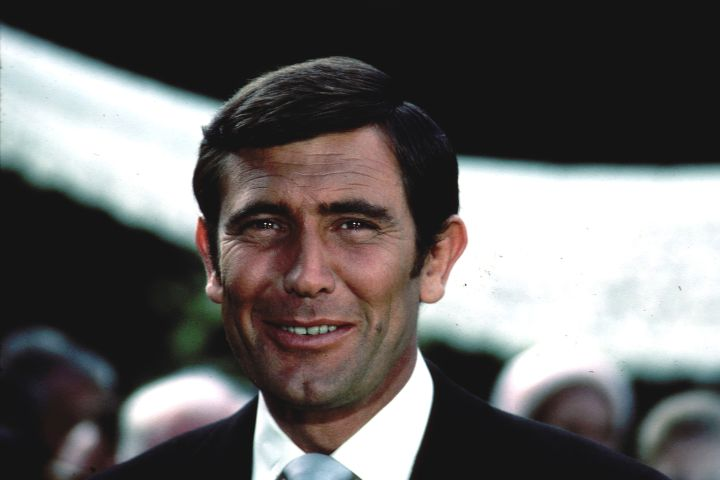 Australian actor George Lazenby during the filming of the James Bond film 'On Her Majesty's Secret Service', 1969. (Getty Images)