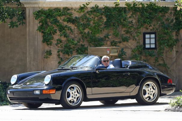 George Clooney Out For A Drive
