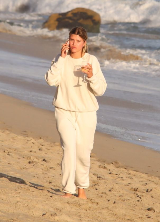 Sofia Richie Takes An Evening Beach Walk